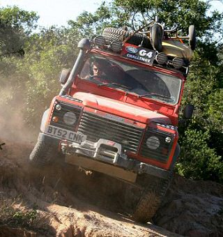 Defender tackles rough terrain in Bolivia