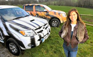 Jungle star Anna picks go-anywhere Hilux for wildlife park patrol